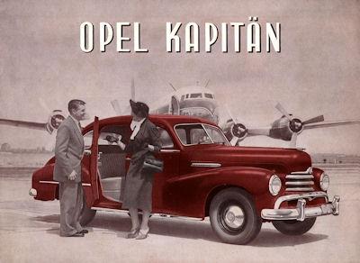 Opel Kapitän Prospekt ca. 1951 f