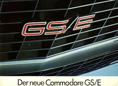 Opel Commodore GS/E Prospekt 9.1972
