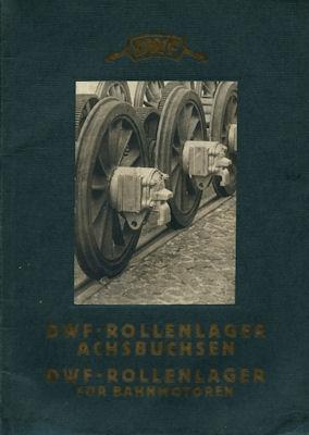DWF Rollenlager / Achsbuchsen Katalog 1928