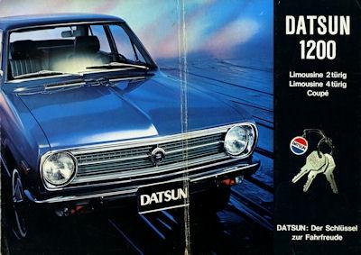 Datsun 1200 Prospekt 1970er Jahre
