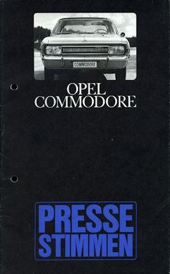 Opel Commodore Pressestimmen ca. 1969