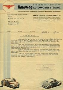 Hanomag Brief 1940