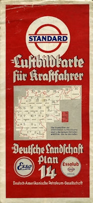 Standard Luftbildkarte Plan 14 Oberschlesien 1930er Jahre