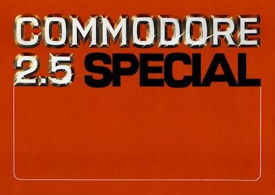 Opel Commodore 2.5 Spezial Prospekt 9.1976