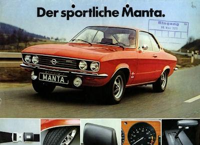 Opel Manta -der sportliche- Prospekt 5.1973