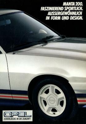Opel Manta 200 Irmscher Prospekt 1984