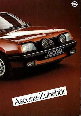 Opel Ascona C Zubehör Prospekt 1982