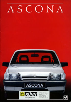 Opel Ascona Prospekt 1987