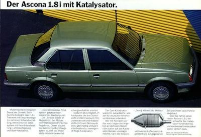 Opel Ascona 1.8 i Kat. Prospekt 1985