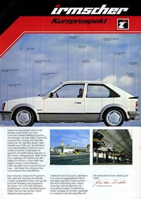 Opel Irmscher Kurz-Prospekt 1981