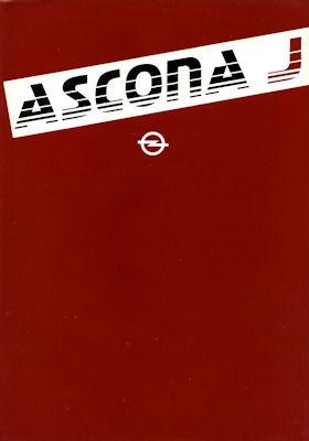Opel Ascona J Prospekt 1980