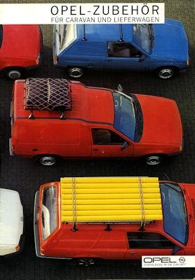 Opel Zubehör für Caravan und Lieferwagen Prospekt 1986