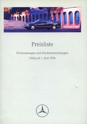 Mercedes-Benz Preisliste 6.1994