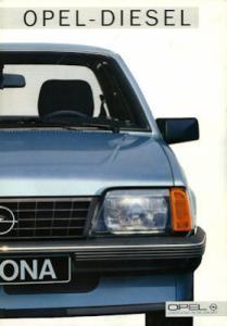 Opel Diesel Prospekt 1986