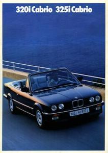 BMW 320i 325i Cabrio Prospekt 1988