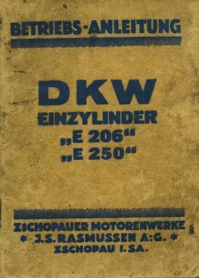 DKW E 206 E 250 Bedienungsanleitung 1927