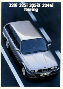 BMW 320i 325i 325iX 324td touring Prospekt 1988