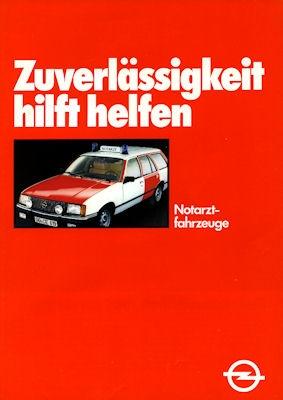 Opel Rekord E Notarztfahrzeug Prospekt 1981