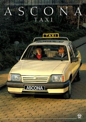Opel Ascona Taxi Prospekt 1987