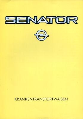 Opel Senator Krankentransportwagen Prospekt 1984