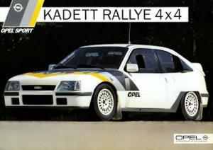 Opel Kadett E Rallye 4x4 Prospekt 9.1985