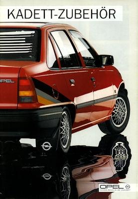 Opel Kadett E Zubehör Prospekt 1986