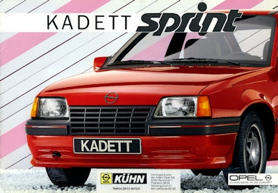 Opel Kadett E Sprint Prospekt 9.1985