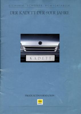 Opel Kadett E Produktinformation 12.1988