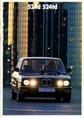 BMW 520i 525i 530i 535i Prospekt 1988