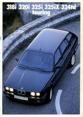 BMW 318i 320i 325i 325iX 324td Touring Prospekt 1990