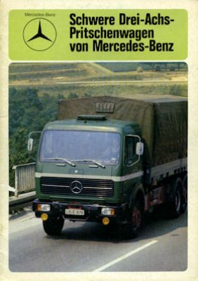 Mercedes-Benz 3 Achs Pritschenwagen Prospekt 8.1975