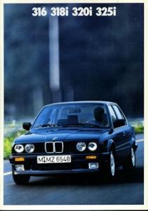 BMW 316 318i 320i 325i Prospekt 1988