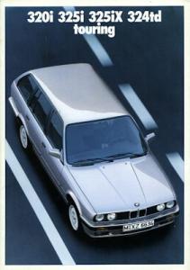 BMW 320i 325i 325iX 324td touring Prospekt 1989