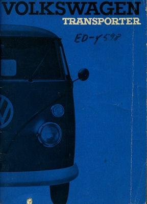 VW T 1 Bedienungsanleitung 8.1965