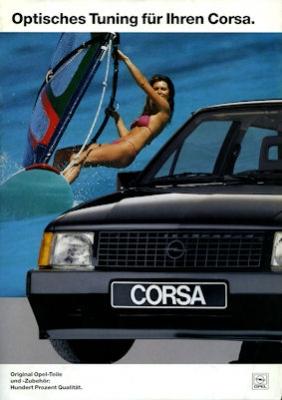 Opel Corsa Zubehör Prospekt 1988