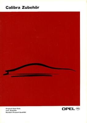 Opel Calibra Zubehör Prospekt 1991
