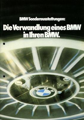 BMW Sonderausstattung Prospekt 1979