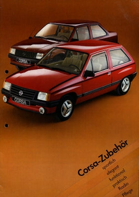 Opel Corsa Zubehör Prospekt 1983