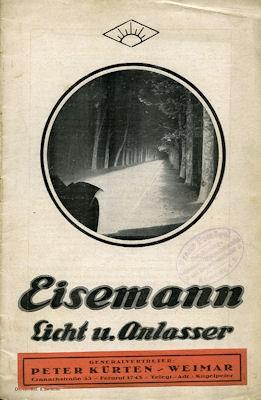 Eisemann Licht u. Anlasser 8.1924