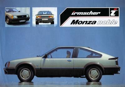 Opel Irmscher Monza Prospekt 1982