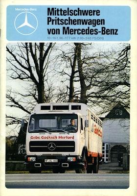 Mercedes-Benz Mittelschwere Pritschenwagen Prospekt 1980