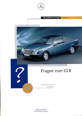 Mercedes-Benz CLK 4 interne Prospekte 1997
