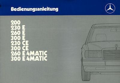 Mercedes-Benz 200- 300E 4Matic Bedienungsanleitung 1988