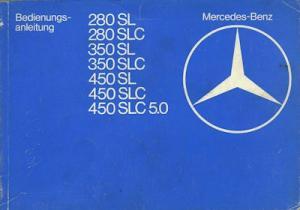 Mercedes-Benz 280 SL-450 SLC 5.0 Bedienungsanleitung 9.1979