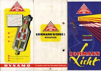 Lohmann Radlicht Prospekt 1950er Jahre