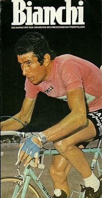 Bianchi Fahrrad Prospekt 1970er Jahre