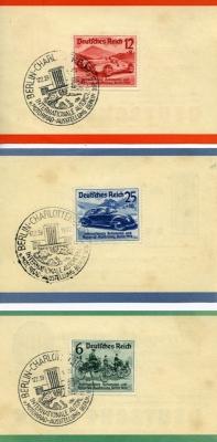Einzeln Briefmarken zur IAA 1939 mit VW KdF-Wagen
