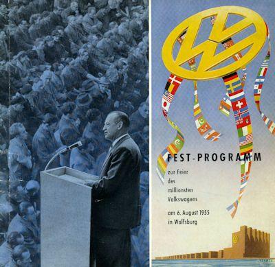 VW Fest Programm Wolfsburg 6.8.1955