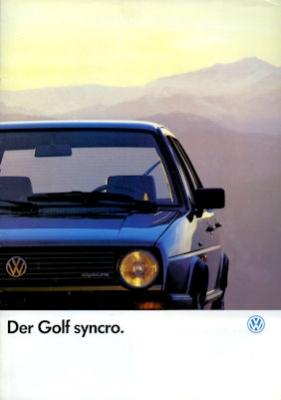 VW Golf 2 Syncro Prospekt 7.1986