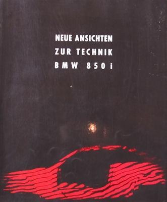 BMW 850i Prospekt 1991